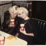 Tiina & Erika 1988 Ed Debevic's on Bob's birthday