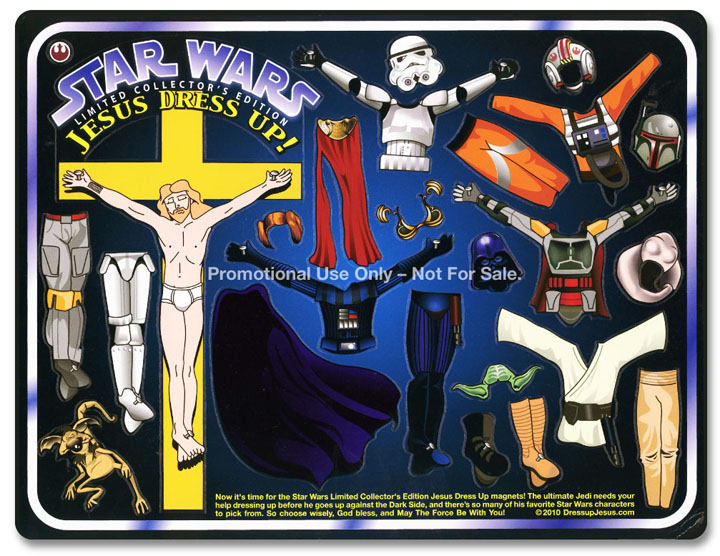 Star Wars Jesus Dressup magnets