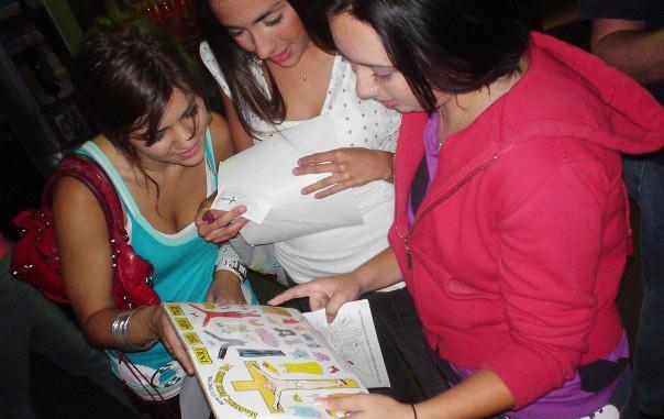 Girls admiring Jesus Dressup