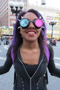 Purple haired Sketchgirl Nat