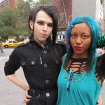 Cool goth, club kids Union Square NYC