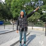 Black girl in uniform gives Nazi salute