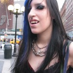 vampire girl with nosering