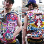 Cool kid in hand drawn jacket