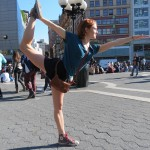 red haired girl yoga