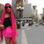 Gay Pride in pink tutu