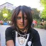Black girl in goth makeup