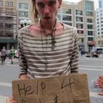 Homeless kid needs change