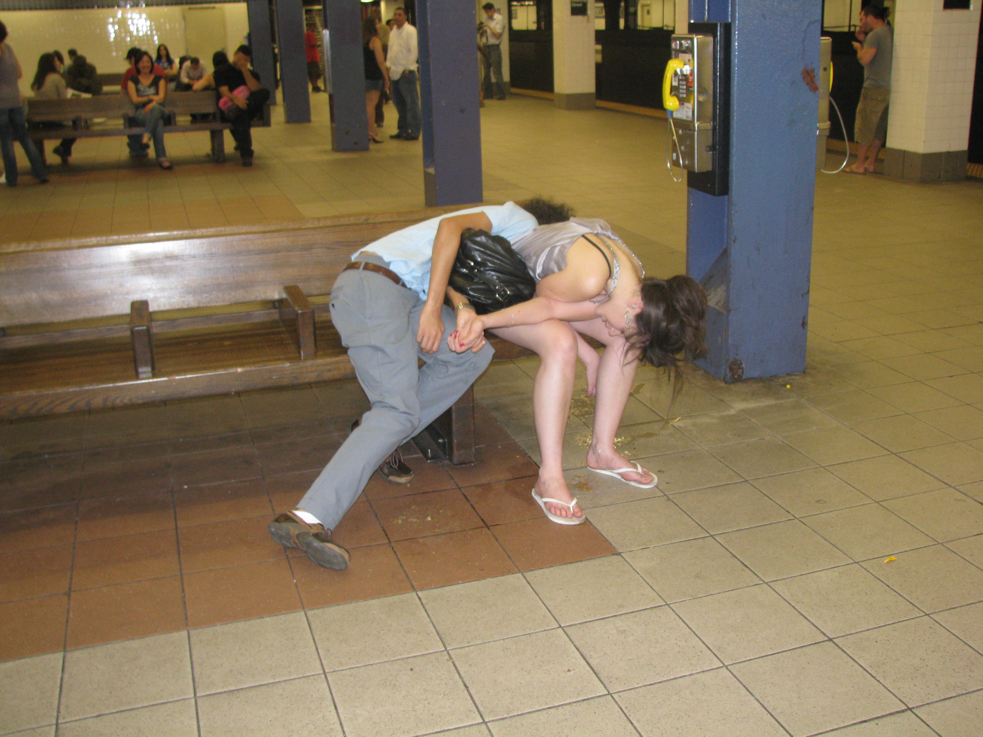 Drunk Couple in Vomit