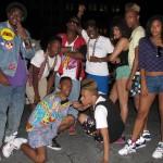 80s Hiphop kids posing