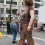Richard Edson photographing Street Preacher – Mar 8, 2009