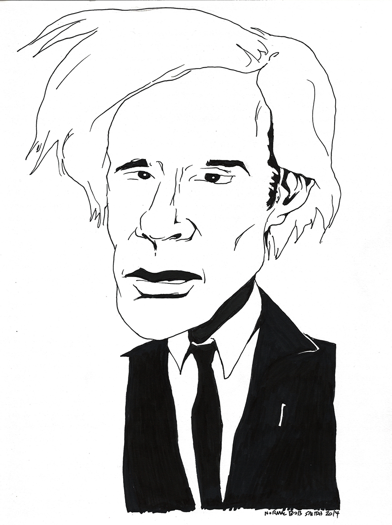 andy warhol portrait pen & ink