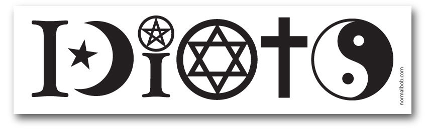 Coexist Idiots Bumper Sticker