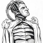 Time Bandits Evil pen & ink