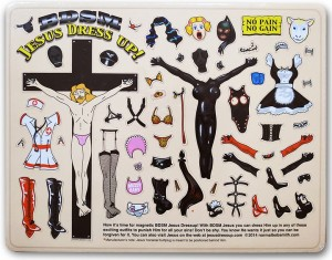BDSM Jesus Dressup magnets