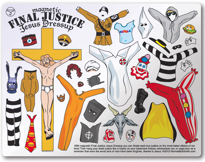 Final Justice Jesus Dressup fridge magnets