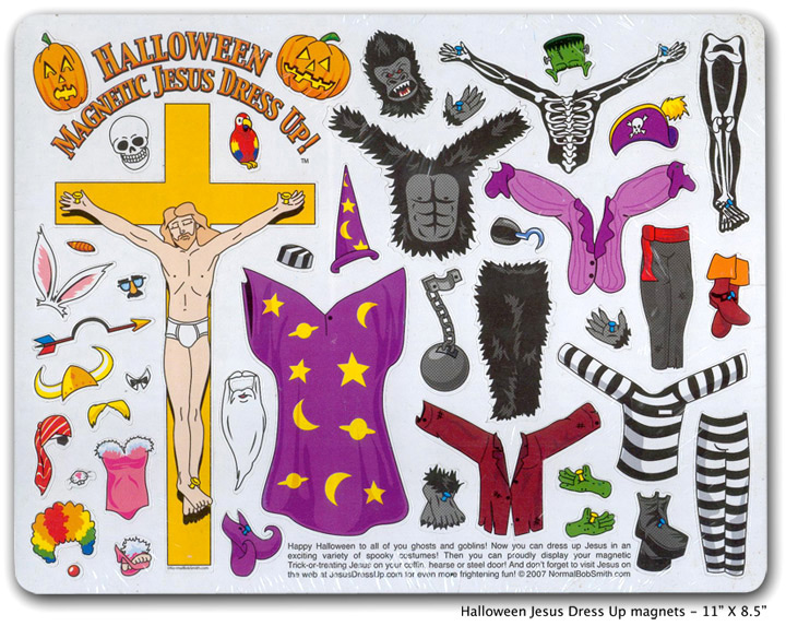 Halloween Jesus Dressup fridge magnets