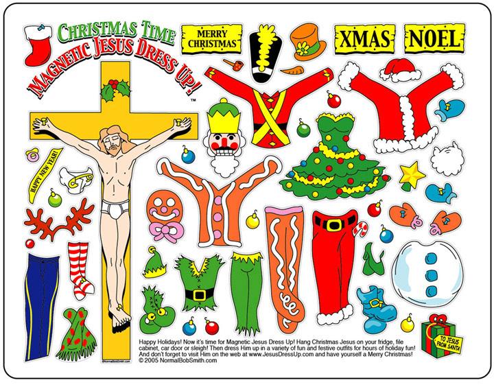 Christmas Time Jesus Dressup fridge magnets