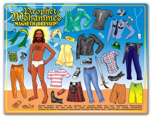 Mohammed Dressup fridge magnets