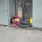 Drunk passed out in Chinatown