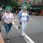 Tourists in Liberty Crowns on St. Marks
