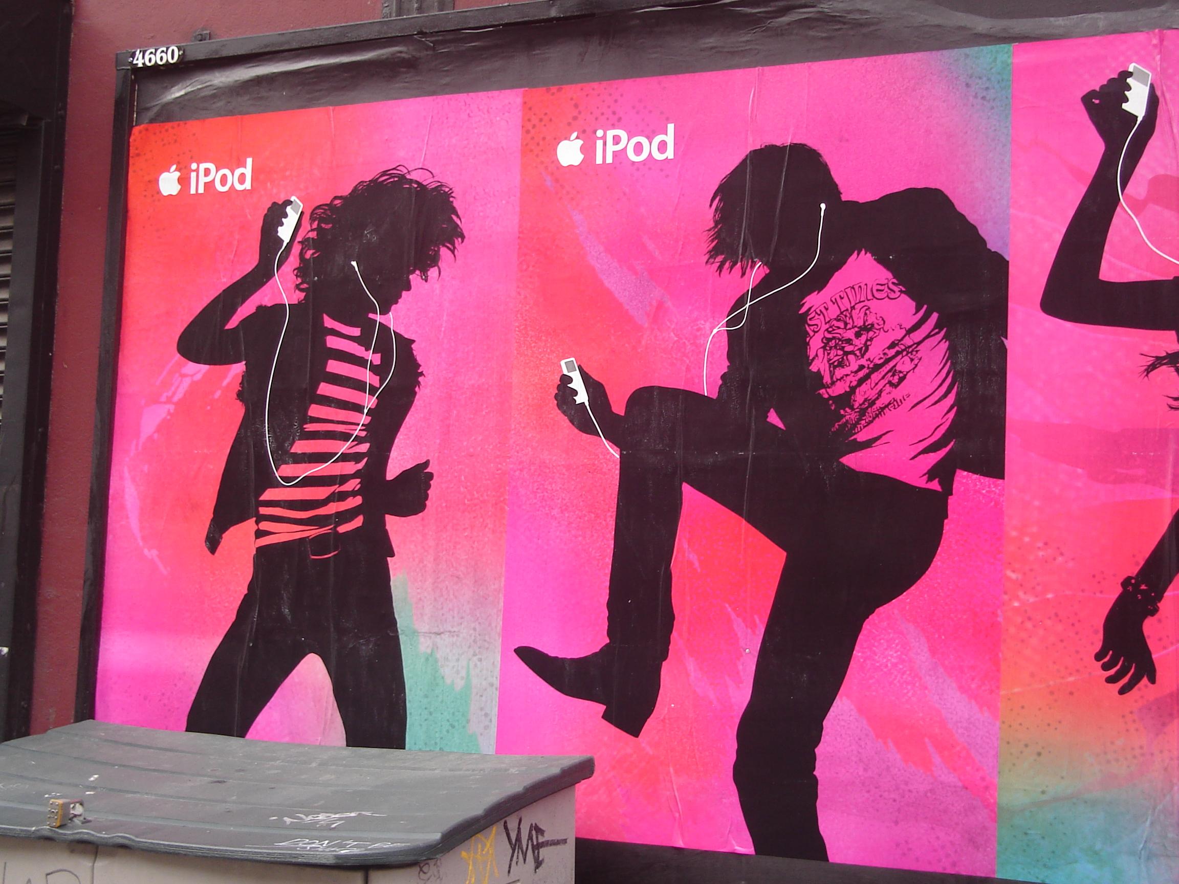 iPod street ads