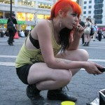punk girl with orange hair