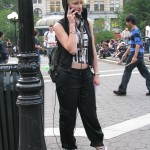 Girl dressed like Madonna Lucky Star
