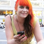 cute punk girl with orange hair