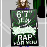 """cartoon of 6' 7"""" Jew"""