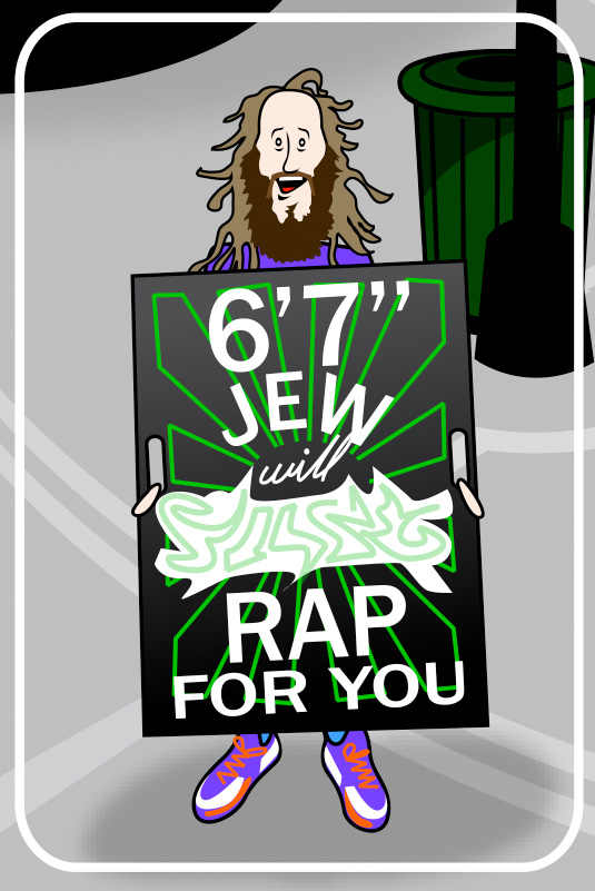 "cartoon of 6' 7"" Jew"