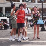 Tourists arguing over directions