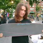 skater holding board