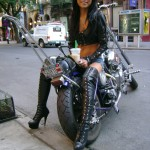 Hot Asian Biker Babe