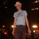 Normal Bob in Foxy Grandpa shirt and cowboy hat