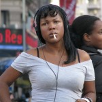 Black Girl Smoking