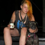 crusty punk girl and her dog