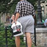 Man with Game Stop bag