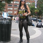 Hot Metal Chick in Guns n Roses shirt