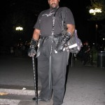 black man in graver armor