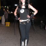 metal girl in skinny jeans