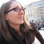 hot hipster girl in glasses