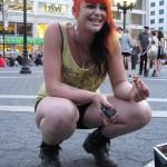 punk girl with orange hair