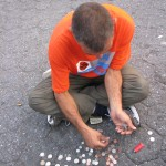 homeless man counting change