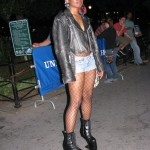 Wiman in heelless shoes made popular by Lady Gaga
