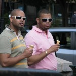 Men in White Shades & Ice Cream Cones