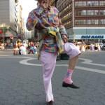 man showing Pink Bunny socks