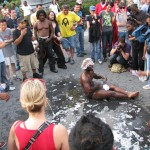 Man rolls in Union Square puddle for $50