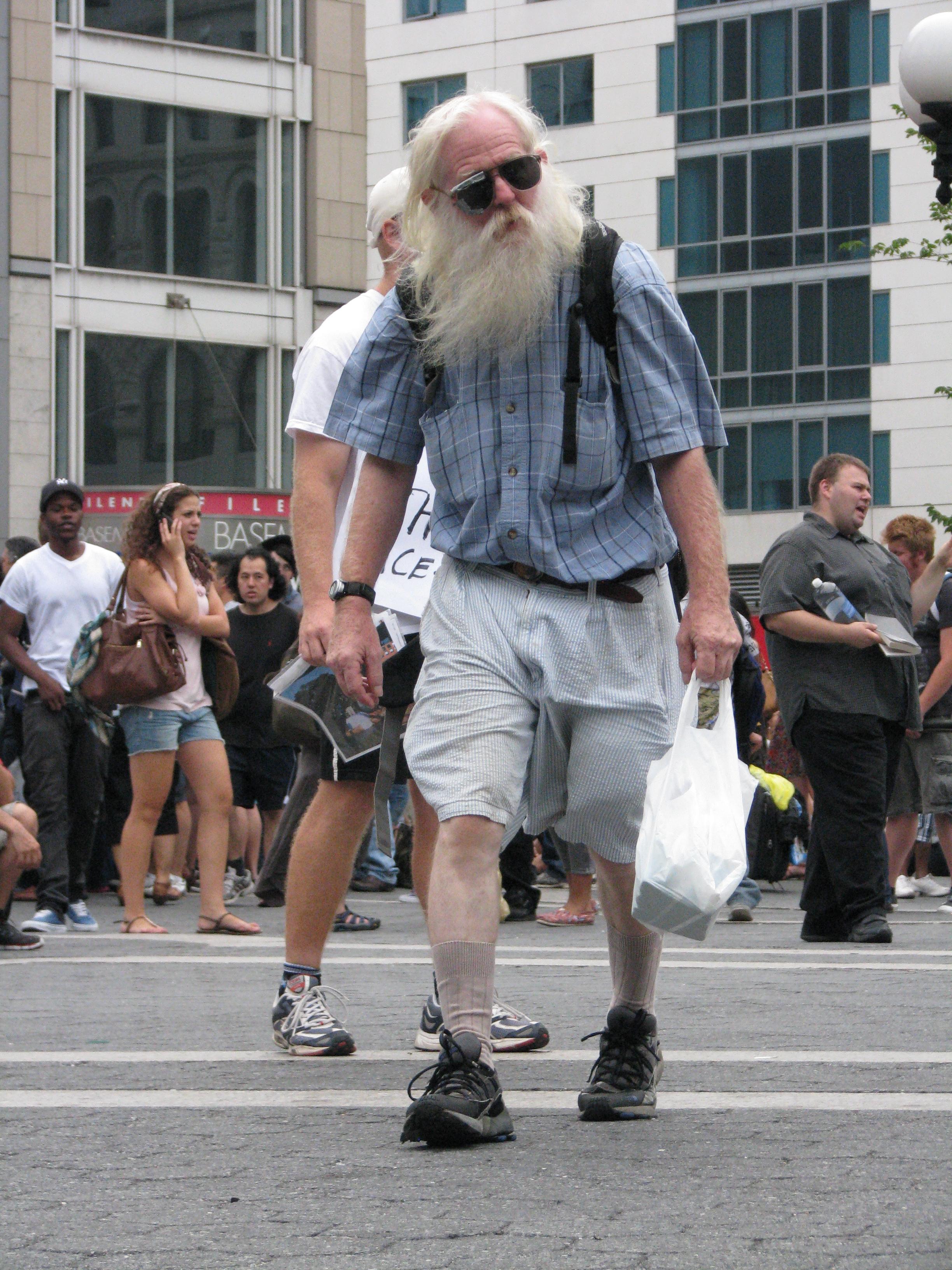 white bearded man in sunglasses
