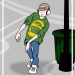 cartoon of hip hop asian